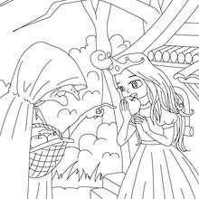Cuento Blancanieves para colorear - Dibujos para Colorear y Pintar - Dibujos de CUENTOS para colorear - Cuentos de los hermanos GRIMM para colorear