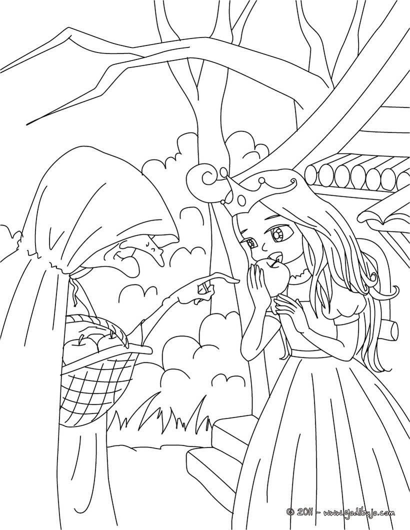 Dibujos para colorear cuento blancanieves - es.hellokids.com