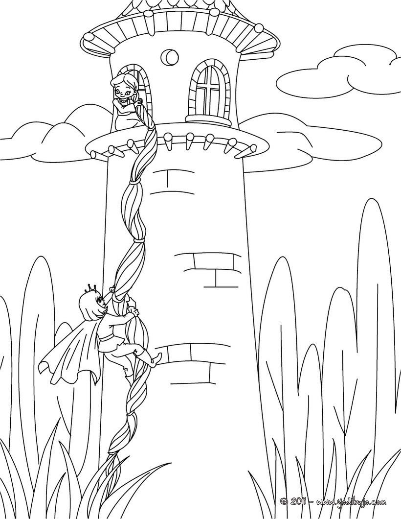 Dibujos para colorear verdezuela o rapunzel - es.hellokids.com