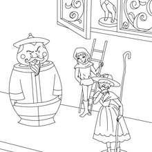 Cuento La pastora y el deshollinador para colorear - Dibujos para Colorear y Pintar - Dibujos de CUENTOS para colorear - Cuentos de Hans Christian ANDERSEN para colorear