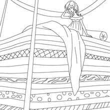 Dibujo para colorear : Cuento la princesa y el guisante