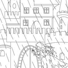 Colorear la princesa y el guisante - Dibujos para Colorear y Pintar - Dibujos de CUENTOS para colorear - Cuentos de Hans Christian ANDERSEN para colorear