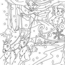 Cuento la reina de las nieves para colorear - Dibujos para Colorear y Pintar - Dibujos de CUENTOS para colorear - Cuentos de Hans Christian ANDERSEN para colorear