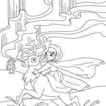 Colorear la reina de las nieves - Dibujos para Colorear y Pintar - Dibujos de CUENTOS para colorear - Cuentos de Hans Christian ANDERSEN para colorear