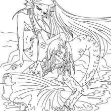 Dibujo para colorear : Cuento la sirenita