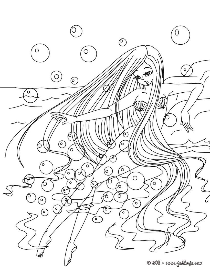 Dibujos para colorear la sirenita de andersen - es.hellokids.com