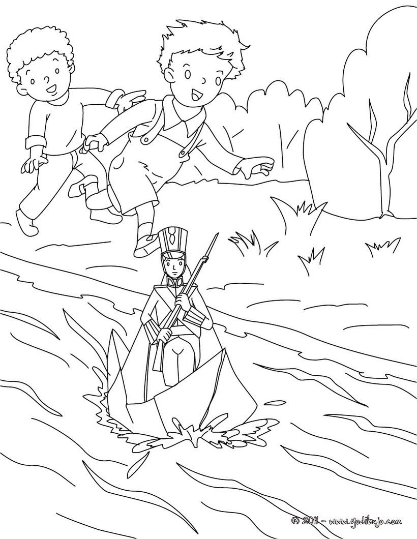 Dibujo para colorear : el soldadito de plomo