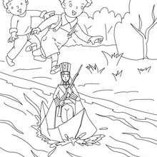 Colorear el soldadito de plomo - Dibujos para Colorear y Pintar - Dibujos de CUENTOS para colorear - Cuentos de Hans Christian ANDERSEN para colorear