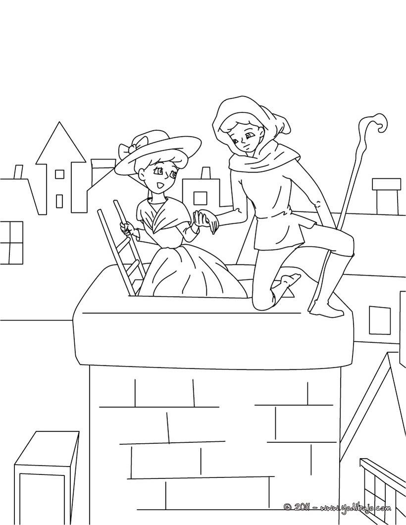 Dibujos para colorear la pastora y el deshollinador - es.hellokids.com