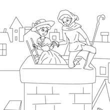 Colorear la pastora y el deshollinador - Dibujos para Colorear y Pintar - Dibujos de CUENTOS para colorear - Cuentos de Hans Christian ANDERSEN para colorear