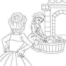 Dibujo para colorear cuento la Cenicienta - Dibujos para Colorear y Pintar - Dibujos de CUENTOS para colorear - Cuentos de Charles PERRAULT para colorear