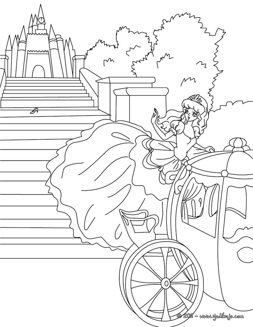 Dibujos para colorear el cuento la cenicienta  eshellokidscom