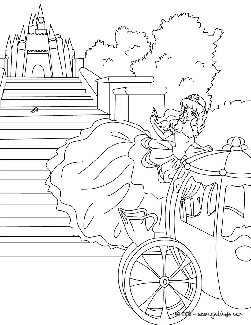 Único Colorear Castillo De Cenicienta Cresta - Dibujos Para Colorear ...