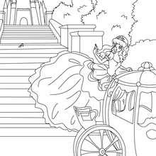 Colorear el cuento La Cenicienta - Dibujos para Colorear y Pintar - Dibujos de CUENTOS para colorear - Cuentos de Charles PERRAULT para colorear