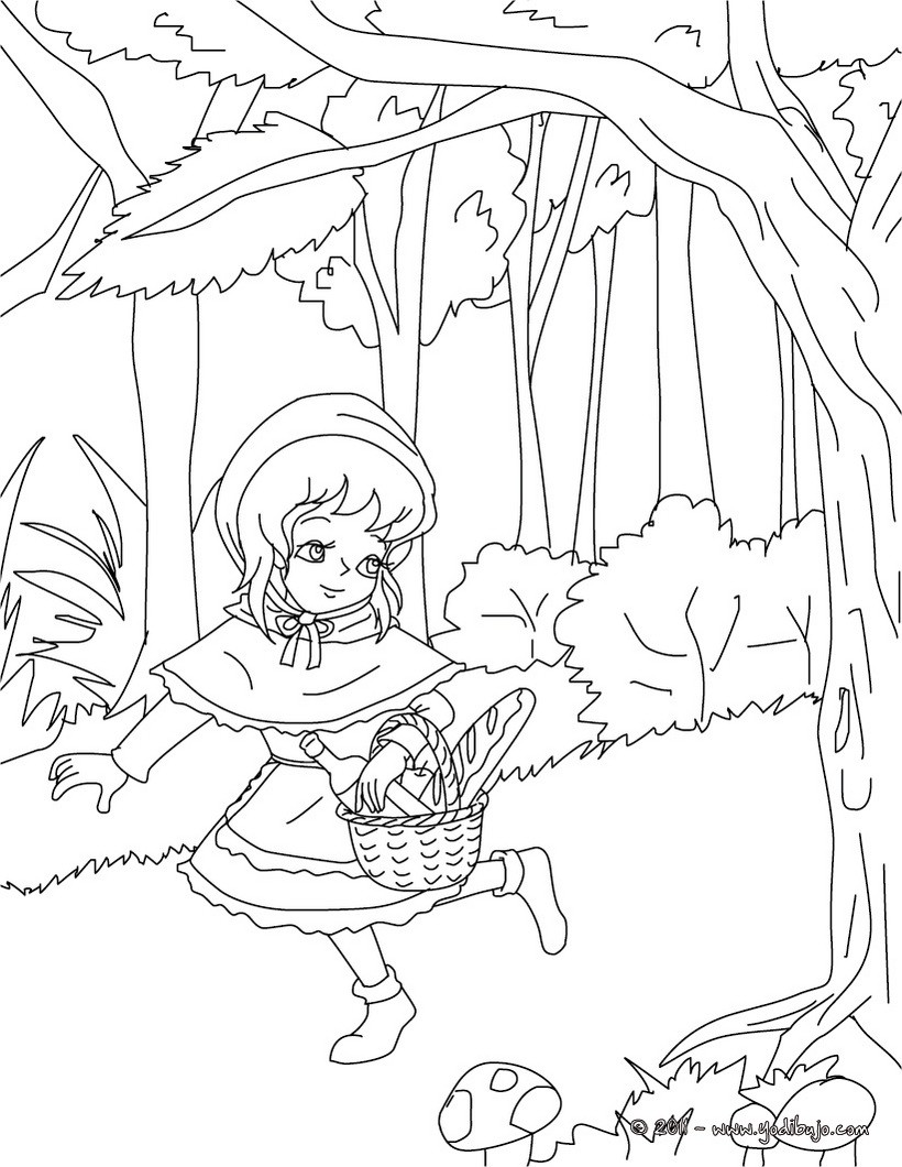 Dibujo Caperucita Roja Para Colorear. Perfect Dibujo De Para ...