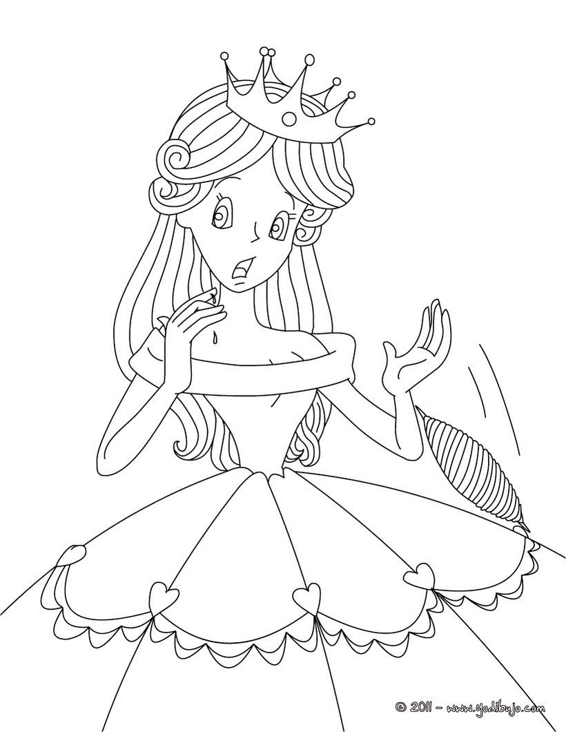 Dibujo para colorear : el cuento la Bella Durmiente