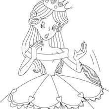 Colorear el cuento la Bella Durmiente - Dibujos para Colorear y Pintar - Dibujos de CUENTOS para colorear - Cuentos de Charles PERRAULT para colorear