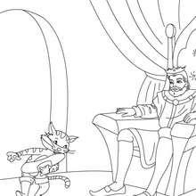 Cuento el Gato con Botas para colorear - Dibujos para Colorear y Pintar - Dibujos de CUENTOS para colorear - Cuentos de Charles PERRAULT para colorear