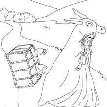 Colorear el cuento Piel de Asno - Dibujos para Colorear y Pintar - Dibujos de CUENTOS para colorear - Cuentos de Charles PERRAULT para colorear