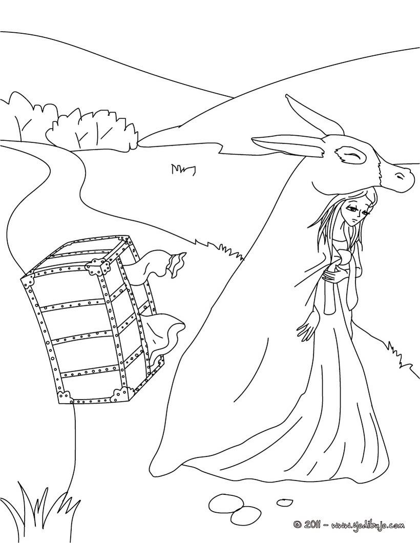 Dibujos para colorear cuento la cenicienta - es.hellokids.com