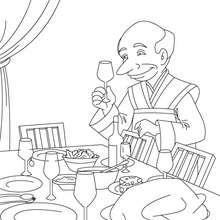 Dibujo para colorear el cuento las 3 Misas - Dibujos para Colorear y Pintar - Dibujos de CUENTOS para colorear - Cuentos de Alphonse DAUDET para colorear
