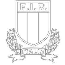 Dibujo para colorear EQUIPO DE RUGBY ITALIA - Dibujos para Colorear y Pintar - Dibujos para colorear DEPORTES - Dibujos de RUGBY para colorear
