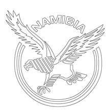 Dibujo para colorear EQUIPO DE RUGBY NAMIBIA - Dibujos para Colorear y Pintar - Dibujos para colorear DEPORTES - Dibujos de RUGBY para colorear