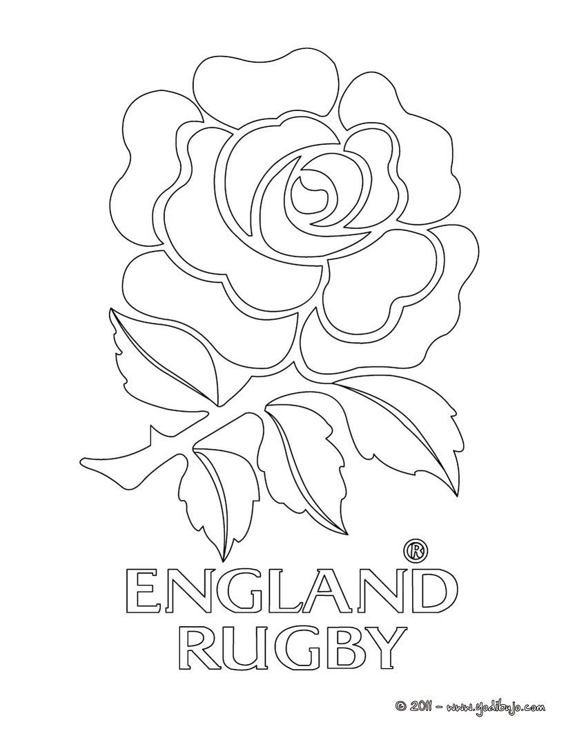 Dibujos para colorear equipo de rugby inglaterra - Coloriage de rugby ...