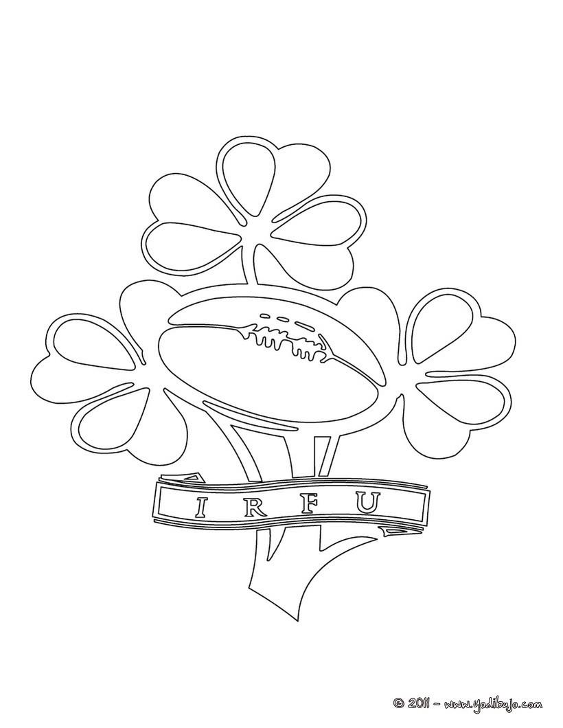Dibujos para colorear equipo de rugby irlanda - es.hellokids.com