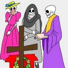 Rompecabezas LA CATRINA en el dia de los muertos