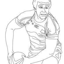 Dibujo del jugador WILL GENIA para colorear - Dibujos para Colorear y Pintar - Dibujos para colorear DEPORTES - Dibujos de RUGBY para colorear