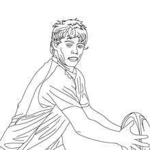 Dibujo del jugador JAMES O'CONNOR para colorear - Dibujos para Colorear y Pintar - Dibujos para colorear DEPORTES - Dibujos de RUGBY para colorear
