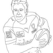Dibujo del jugador JOHNNY WILKINSON para colorear - Dibujos para Colorear y Pintar - Dibujos para colorear DEPORTES - Dibujos de RUGBY para colorear