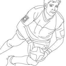 Dibujo del jugador DIMITRI YASHVILI para colorear - Dibujos para Colorear y Pintar - Dibujos para colorear DEPORTES - Dibujos de RUGBY para colorear