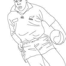 Dibujo del jugador JONAH LOMU para colorear - Dibujos para Colorear y Pintar - Dibujos para colorear DEPORTES - Dibujos de RUGBY para colorear