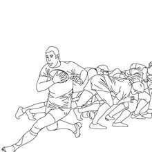 Dibujo para colorear la melé de Rugby - Dibujos para Colorear y Pintar - Dibujos para colorear DEPORTES - Dibujos de RUGBY para colorear
