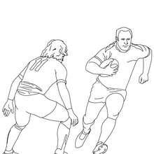 Dibujo para colorear de un partido de Rugby - Dibujos para Colorear y Pintar - Dibujos para colorear DEPORTES - Dibujos de RUGBY para colorear