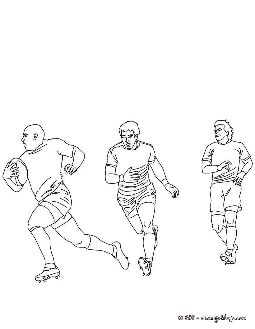 Dibujos para colorear partido de rugby de a 15   es.hellokids.com