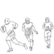 Dibujo para colorear partido de Rugby de a 15 - Dibujos para Colorear y Pintar - Dibujos para colorear DEPORTES - Dibujos de RUGBY para colorear