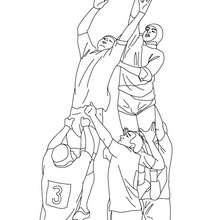 Dibujo para colorear de un Rugby touch - Dibujos para Colorear y Pintar - Dibujos para colorear DEPORTES - Dibujos de RUGBY para colorear