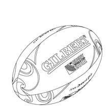 Dibujo para colorear la pelota oficial del mundial de Rugby - Dibujos para Colorear y Pintar - Dibujos para colorear DEPORTES - Dibujos de RUGBY para colorear