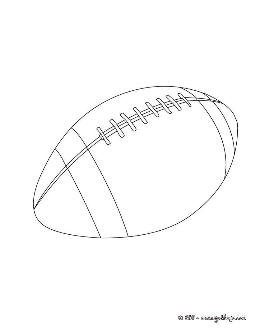 Dibujo para colorear : una pelota de Rugby