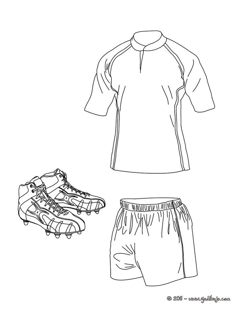Dibujo para colorear de la camiseta, los pantalones cortos, los ...