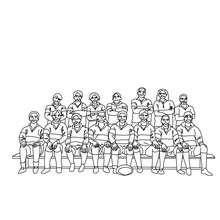 Dibujo para colorear un equipo de Rugby - Dibujos para Colorear y Pintar - Dibujos para colorear DEPORTES - Dibujos de RUGBY para colorear