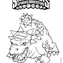 Dibujo de BASH para colorear - Dibujos para Colorear y Pintar - Dibujos para colorear SUPERHEROES - Dibujos para colorear SKYLANDERS Spyro's Adventure