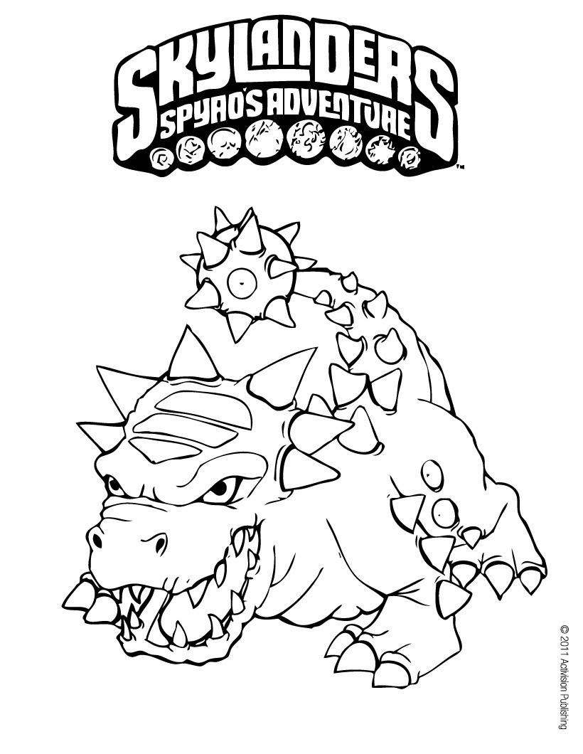 Dibujos para colorear SKYLANDERS Spyro\'s Adventure - 13 Skylanders ...