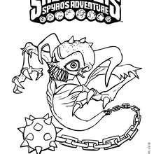 Dibujo de GHOST ROASTER para colorear - Dibujos para Colorear y Pintar - Dibujos para colorear SUPERHEROES - Dibujos para colorear SKYLANDERS Spyro's Adventure