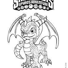 Dibujo de SPYRO Skylanders para colorear - Dibujos para Colorear y Pintar - Dibujos para colorear SUPERHEROES - Dibujos para colorear SKYLANDERS Spyro's Adventure
