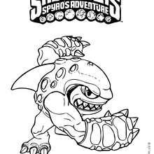 Dibujo de TERRAFIN para colorear - Dibujos para Colorear y Pintar - Dibujos para colorear SUPERHEROES - Dibujos para colorear SKYLANDERS Spyro's Adventure
