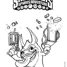 Dibujo de TRIGGER de Skylanders para colorear - Dibujos para Colorear y Pintar - Dibujos para colorear SUPERHEROES - Dibujos para colorear SKYLANDERS Spyro's Adventure